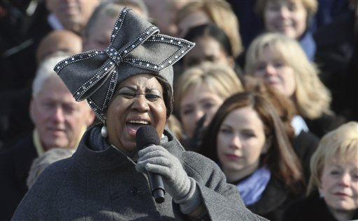 Aretha's Hat at Obama Inauguration