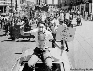 Harvey Milk - Gay Pride 1978 - Photo by Terry Schmitt